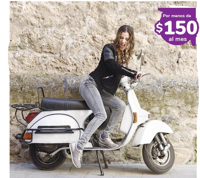 Seguro de Moto por menos de $150 al mes