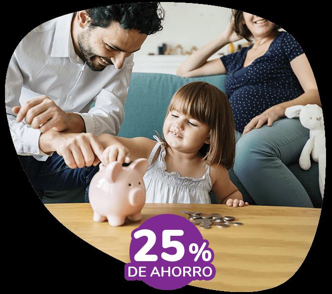 25% de ahorro