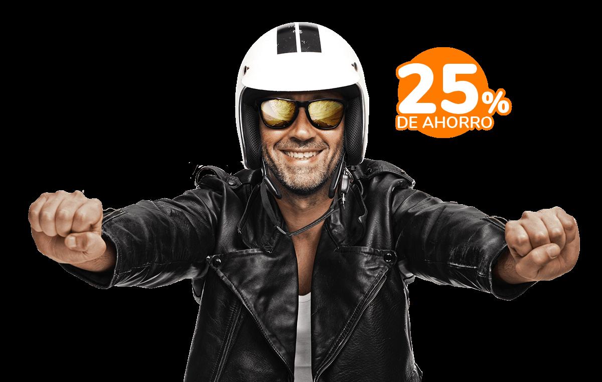 25% de ahorro en el seguro de tu moto