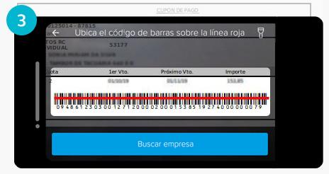 Scaneá el código de barras