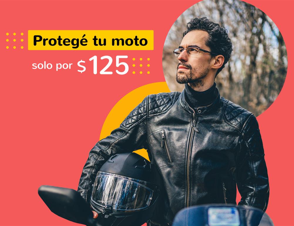 Protegé tu moto solo por $125