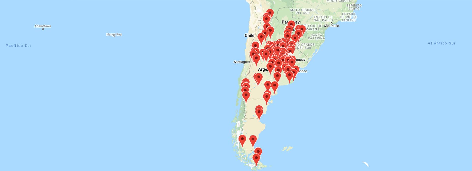 Amplia cobertura en toda la República Argentina